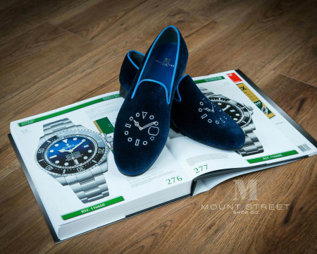 Limited edition slippers made for Mondani by Mount Street