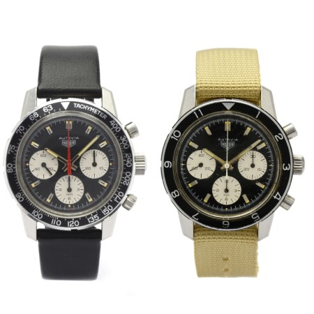 Lot no. 101 and Lot no. 129 Heuer Autavia