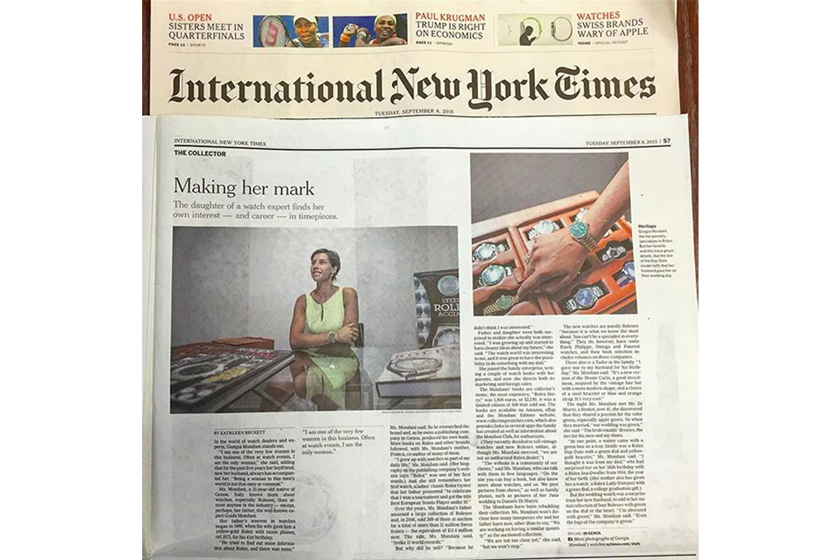 Giorgia Mondani on the New York Times