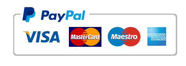 We accept payments by credit card ( Amex, Visa, Mastercard, Diners), Paypal, bank transfer and cheque